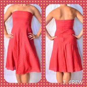 J Crew Strapless dress sun bleached red